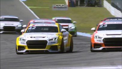 Audi Sport TT Cup 2016. Race1 Hockenheimring. Pavel Lefterov Crash